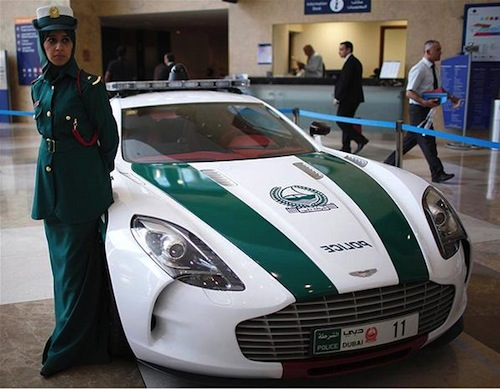 2. Aston Martin One-77 GÇô Dubai Police (UAE)