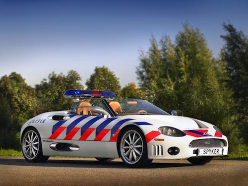 7. Spyker C8 Spyder GÇô Flevoland Police Department (Netherlands)